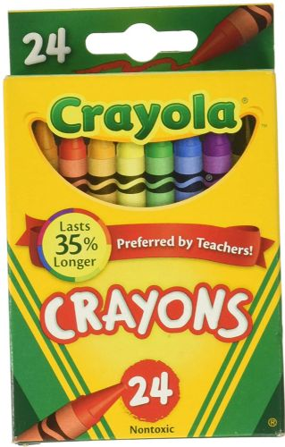 Crayola 24 Count Box of Crayons Non-Toxic